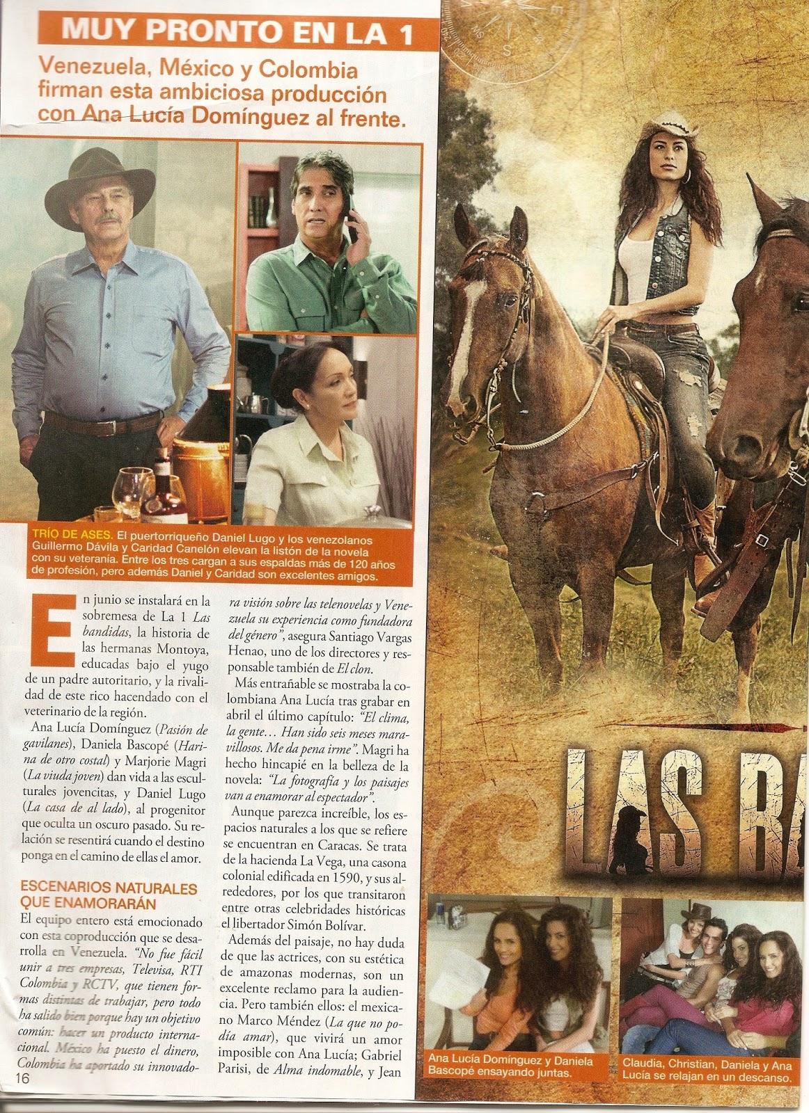 "TELENOVELA"" (@Telenovela_es) DE ESPAÑA, REPORTAJE SOBRE LAS BANDIDAS ..."