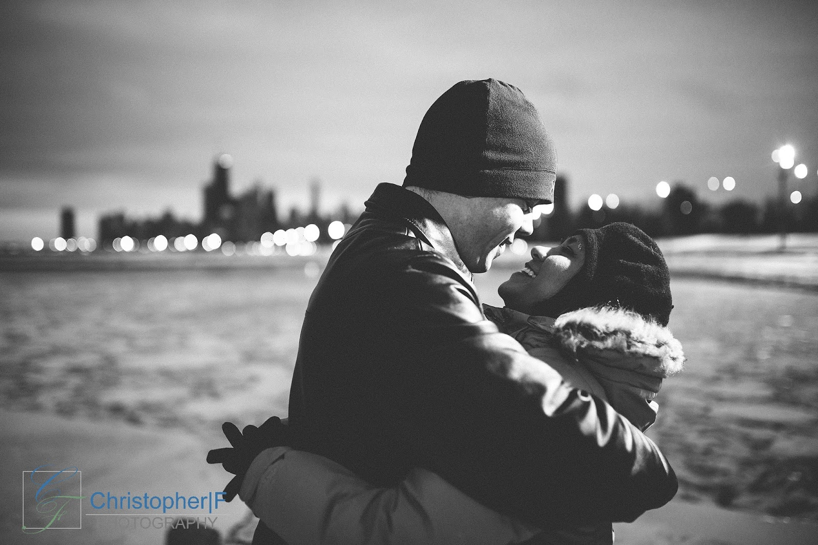 Chicago lakefront Engagement Photo