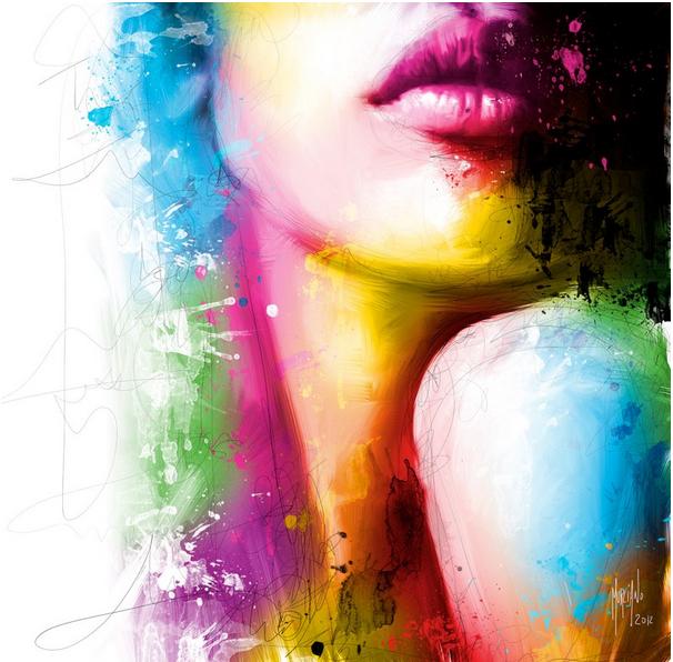 Arco iris de colores deletreando mis latidos