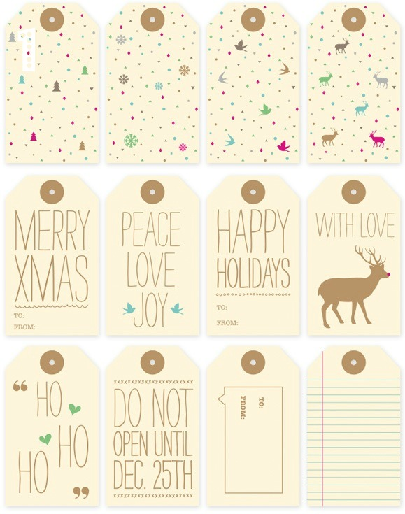 About the nice things: Etiquetas imprimibles para Navidad
