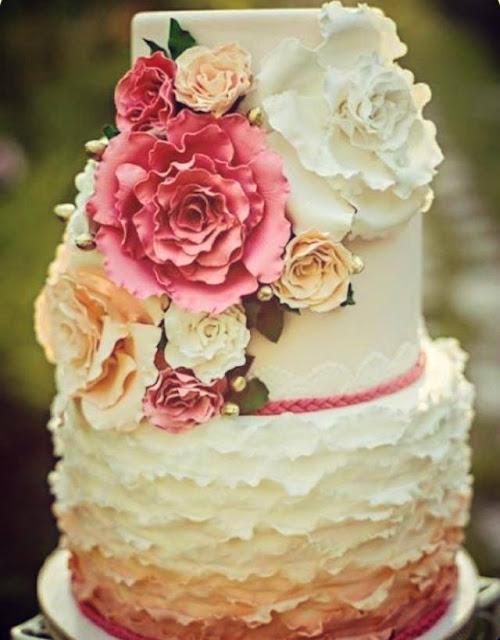 Tarta de boda motivo floral