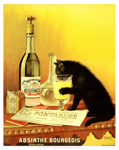 Absinthe bourgeois poster by the Mourgue brothers shows an Absinthe ...