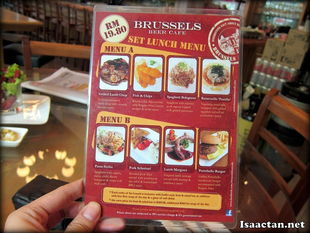 Brussels Beer Cafe Menara Hap Seng Set Lunch Promotion