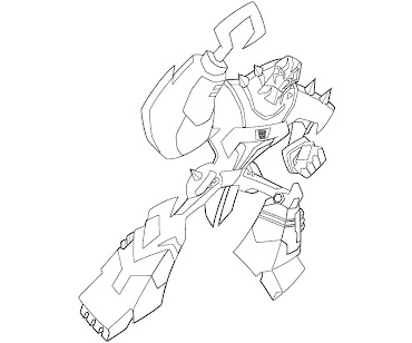 #13 Transformers Coloring Page