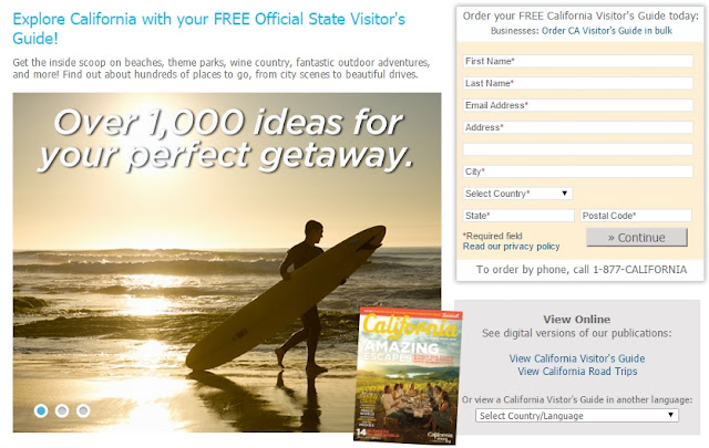 Free Official State Visitor's Guide For Explore California