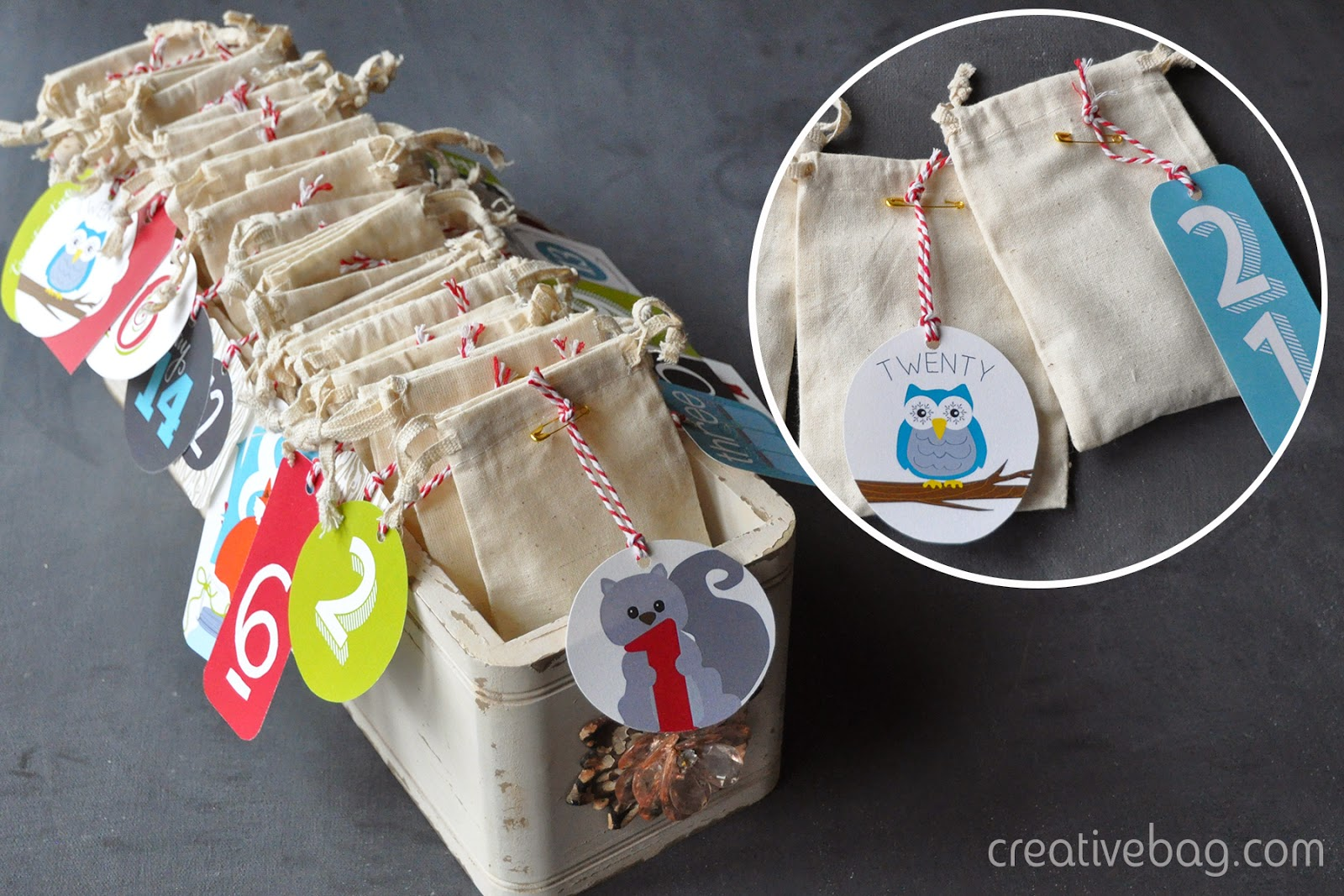 countdown to the holidays with free printables and products from Creative Bag