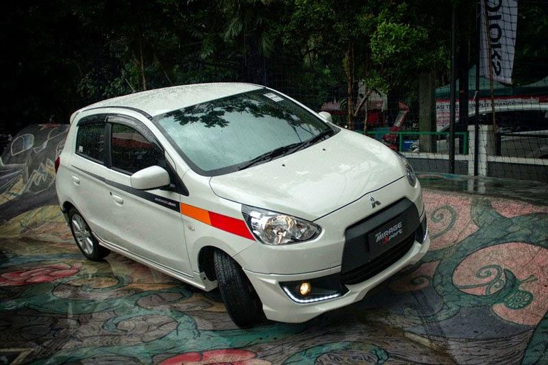 Modifikasi Mobil Mitsubishi Mirage Sport