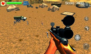 Screenshots of the Zombie assassin 3D for Android tablet, phone.