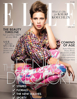 Beautiful Kalki Koechlin Cover Girl Elle India Fashion April 2013