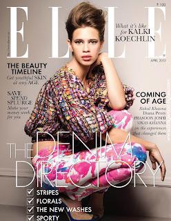 Beautiful Kalki Koechlin Cover Girl Elle India Fashion April 2013