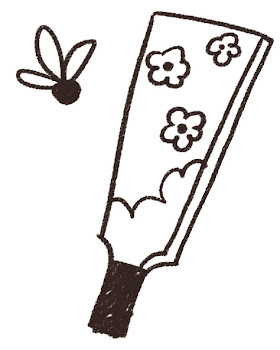 羽根つき・羽子板のイラスト(お正月) 線画