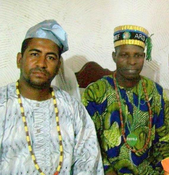 Eu e o Babalowo Oloosa Oluode,  Araba Fagunwa Yekini Ajibade Adifala