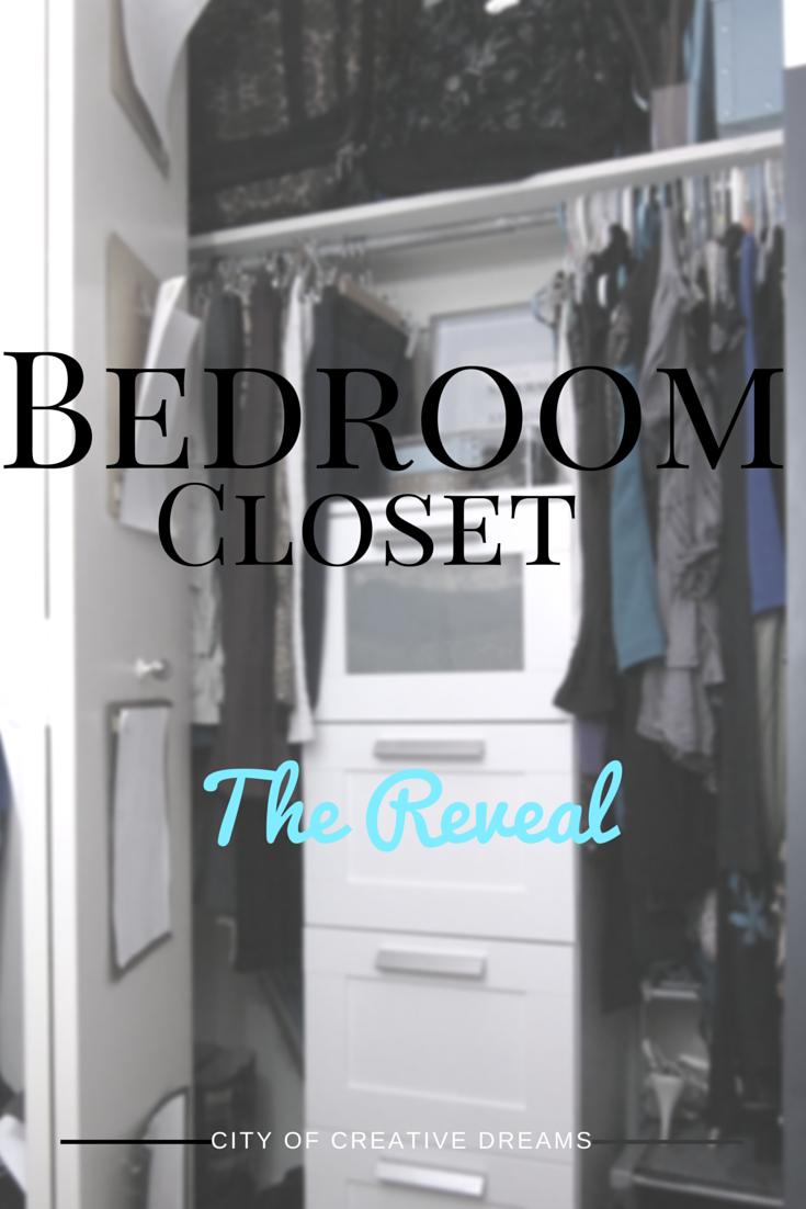 small organized apartment closet