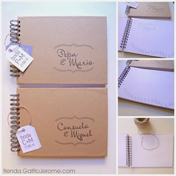 libros de firmas para bodas originales