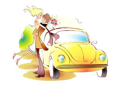 4 ilustraciones PNG para el Día del Amor y la Amistad