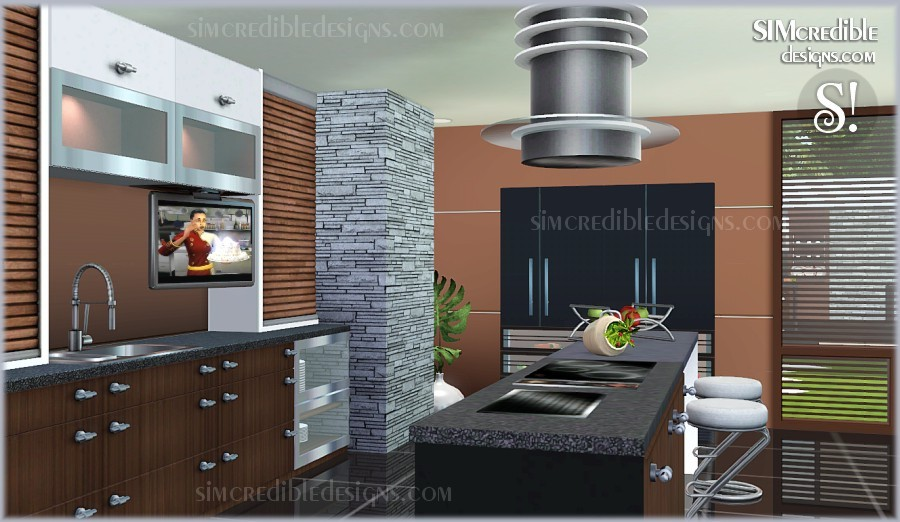 Entertainment world my sims 3 blog cayenne kitchen set for Sims 2 kitchen ideas
