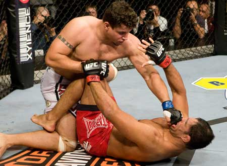 ufc mma fighter frank mir strike punch picture image