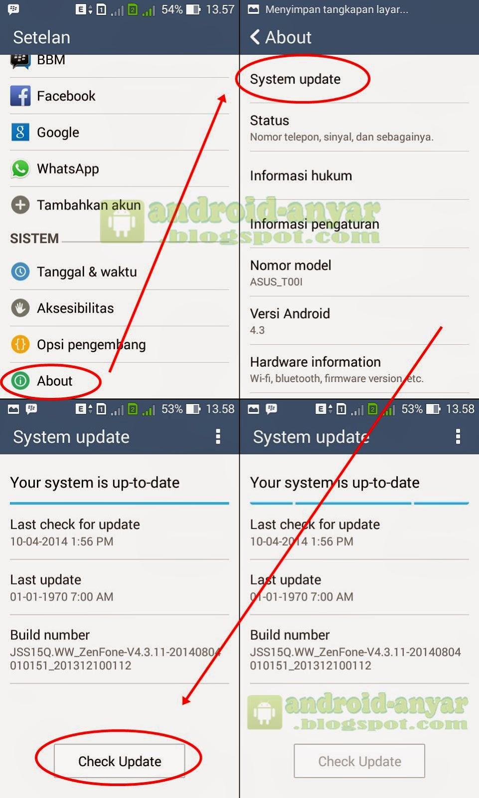 Cara Upgrade Android Jelly Bean ke KitKat 4.4.2 Asus Zenfone 4