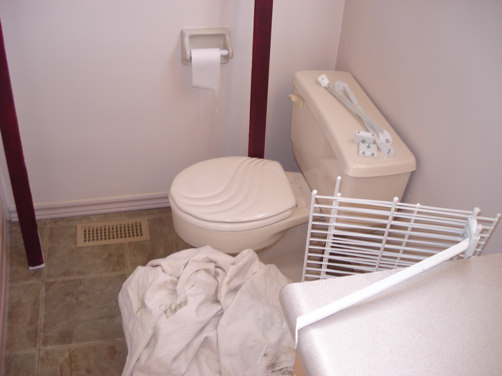 Design by abbey upstairs bathroom re do for Benjamin moore tea light