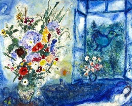 Muna 39 s coolture chagall una struggente storia d 39 amore for Devant la fenetre