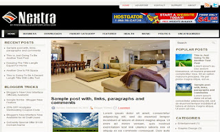 Nextra Blogger Template