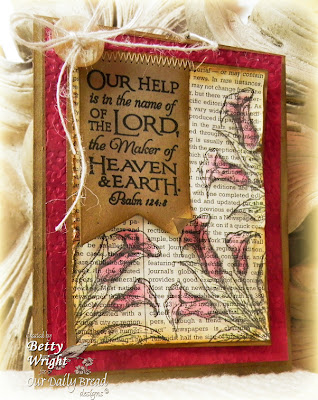 Betty Wright, Scripture Collection 3, Calla Lily, Our Daily Bread Designs