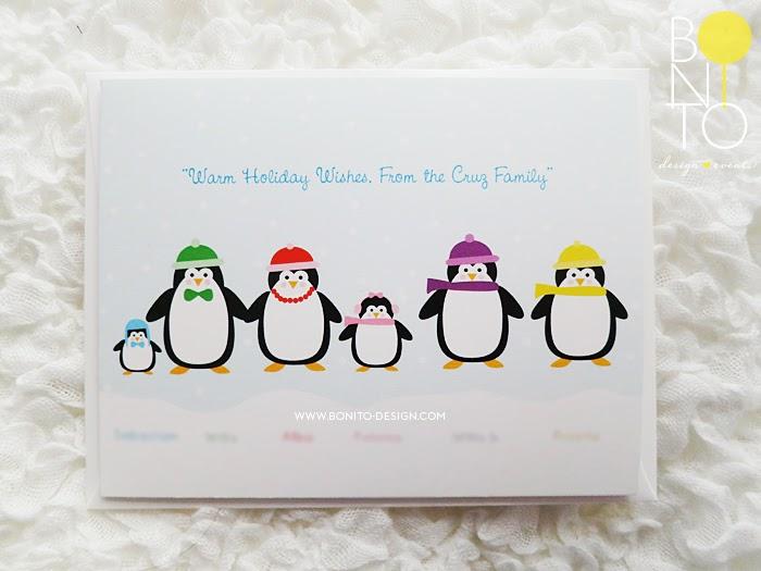 Bonito Design Blog Helen Guzman Penguin Holiday Cards