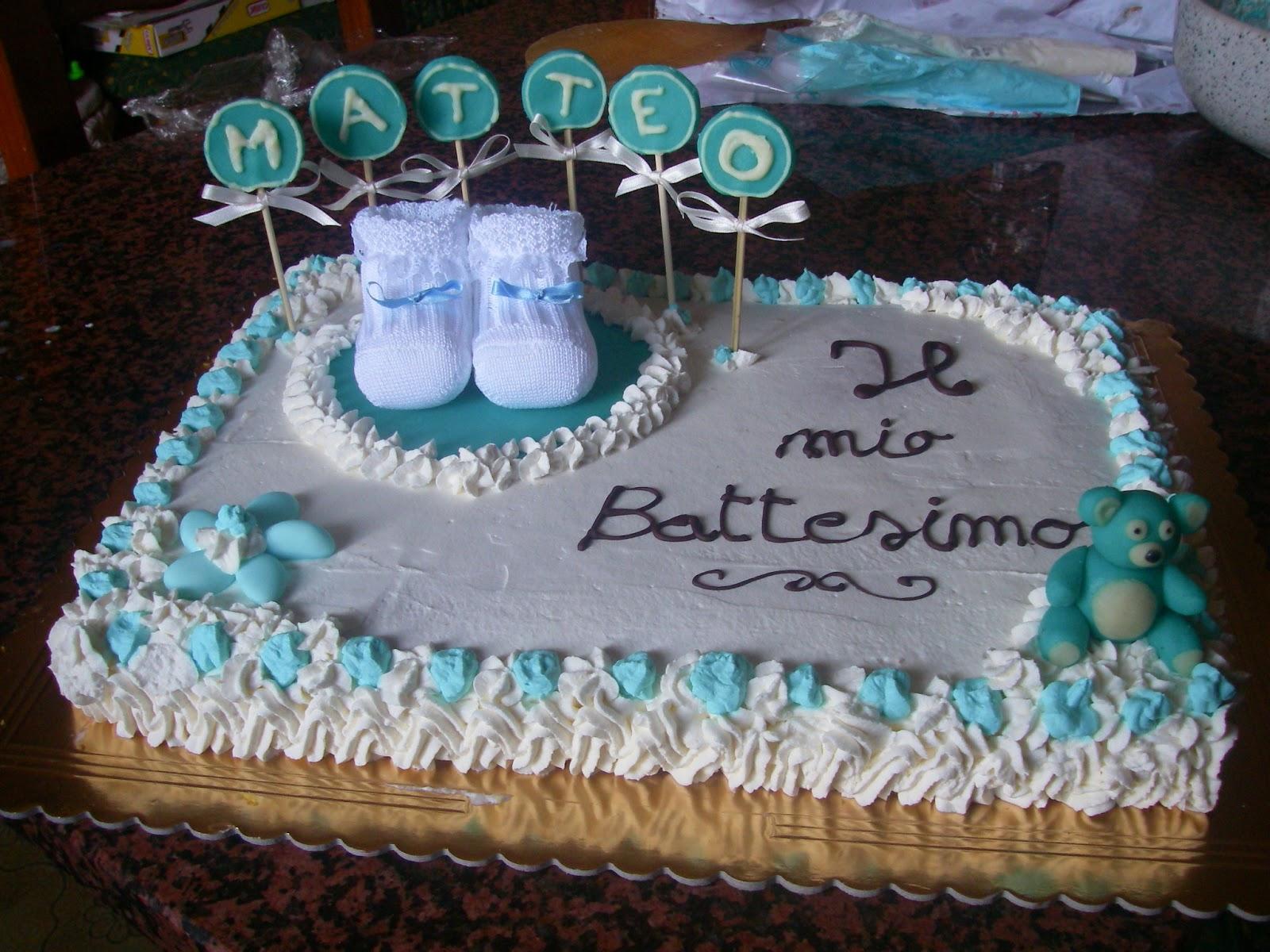 In cucina con monica torta battesimo matteo - Decorazioni battesimo bimbo ...