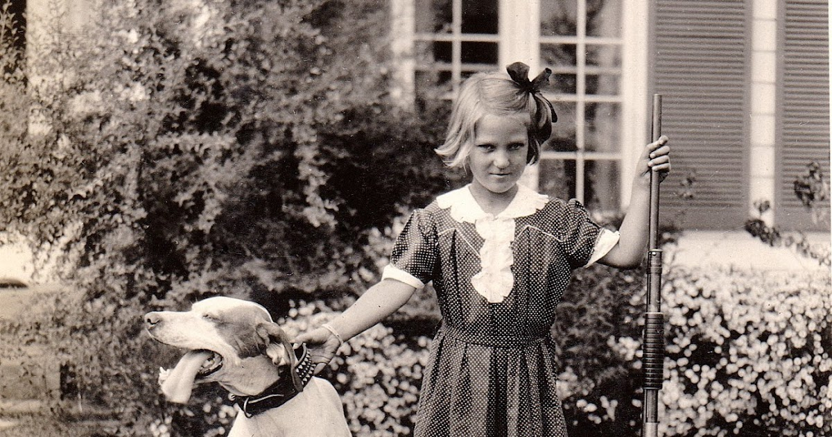 A girl and her dog, 1932