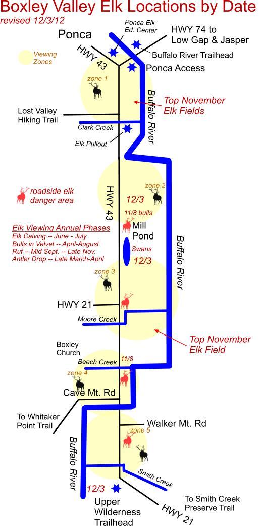 December 3 2012 Elk Herd Locations