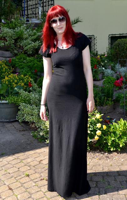 Langes Kleid aus Jersey | freinaht.blogspot.com