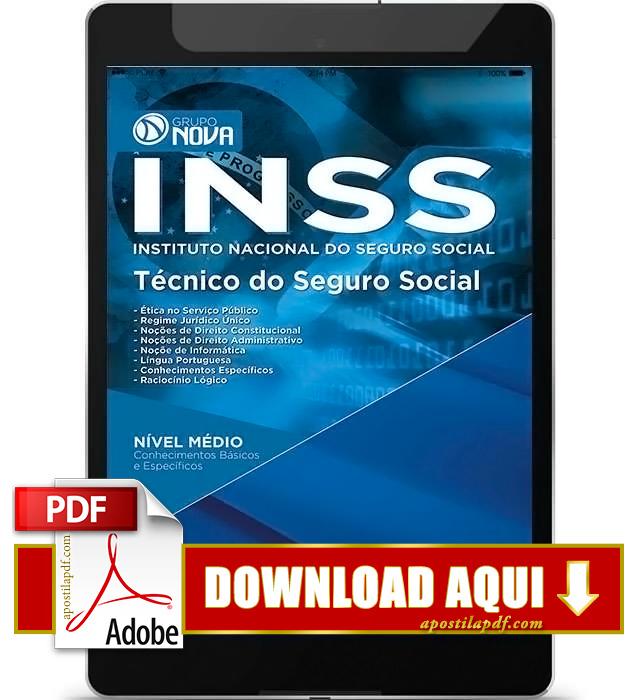 Apostila INSS 2016 PDF Download Técnico do INSS