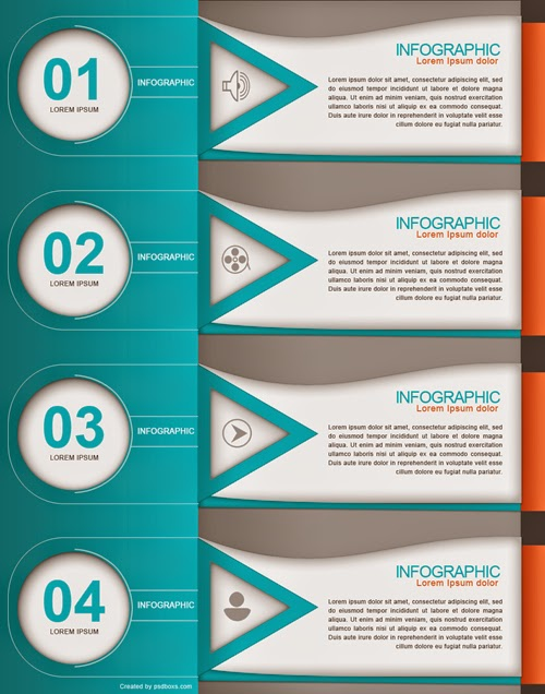 Free PSD Abstract Infographic