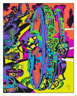 "San Diego Comic-Con 2015 Exclusive Jack Kirby ""Lord of Light"" Blacklight Prints by Heavy Metal - Planetary Controlroom"
