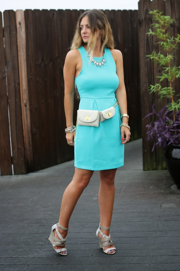 Bedazzles After Dark: Outfit Post: Turquoise in New Orleans