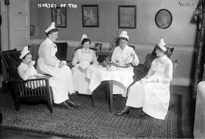 Nurses at tea