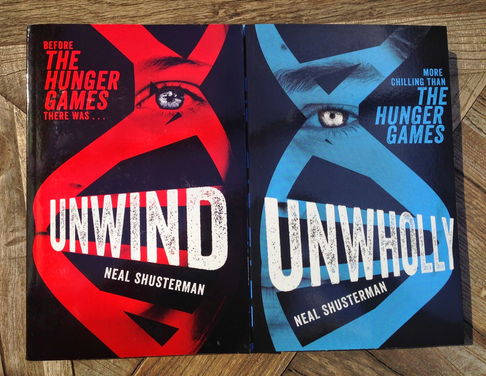 The Second Two Books I Picked Up Are Unwind And Unwholly By Neal  Shusterman Like Nearly Every Other Ya Dystopian Book Today, The Cover  Brings Up