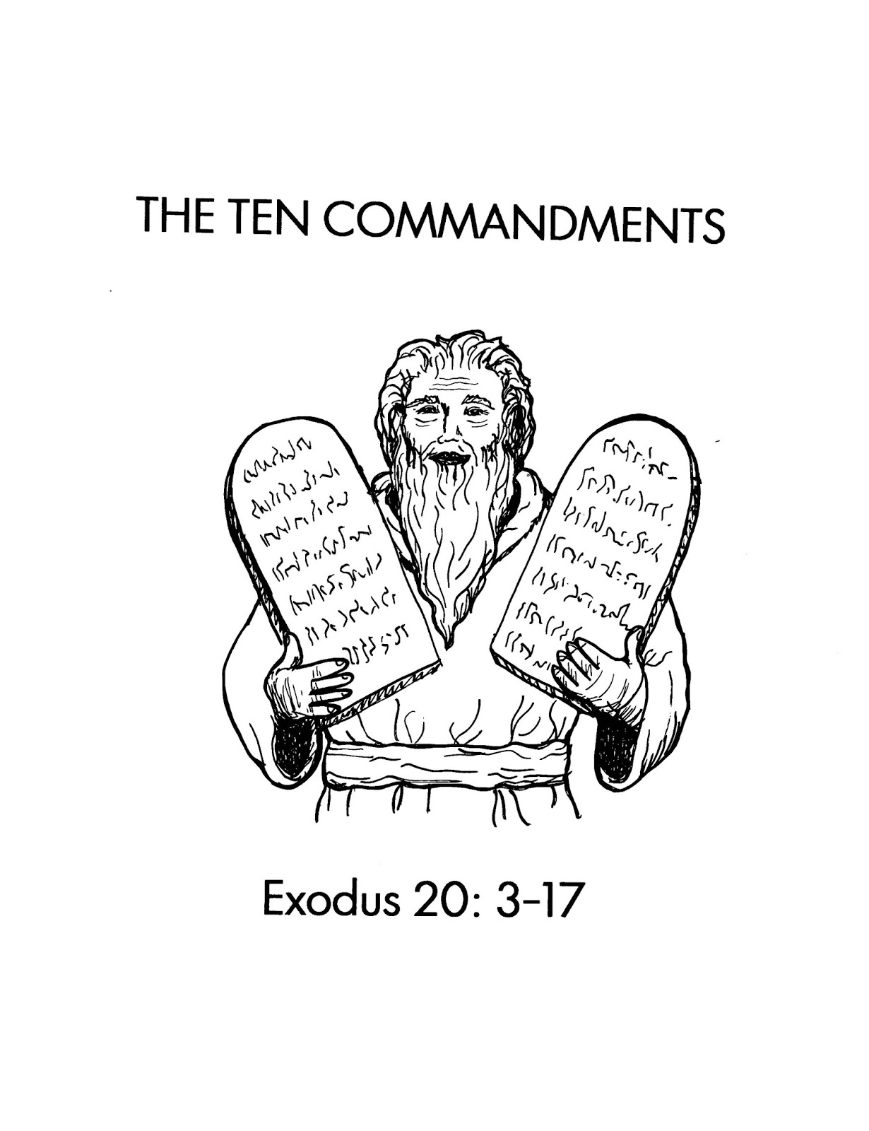 free coloring pages ten commandments - photo#35