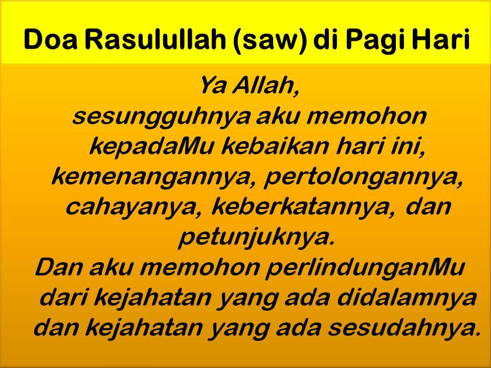 Doa Pagi yang menjadi amalan Rasulullah SAW