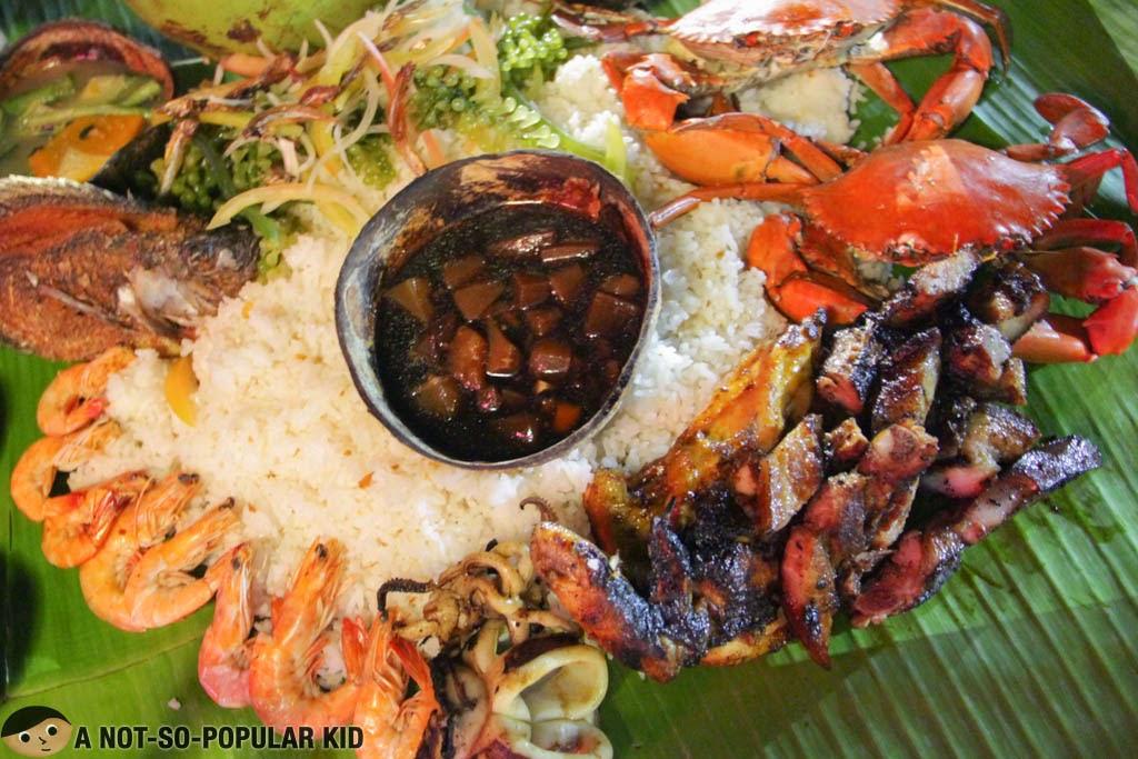 Mt. Apo Boodle Meal of Seafood Island