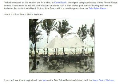 Surin Beach Webcam 3pm Wednesday 13th July