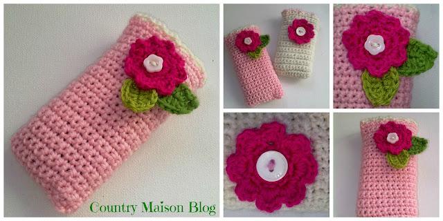 crochet, ganchillo, funda móvil, mobile cover