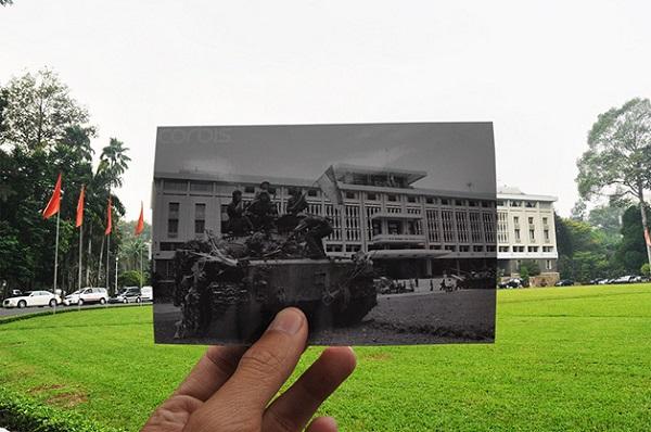 vietnã em fotografias sobrepostas