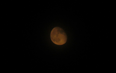 moon photo with Canon A3100 IS point and shoot
