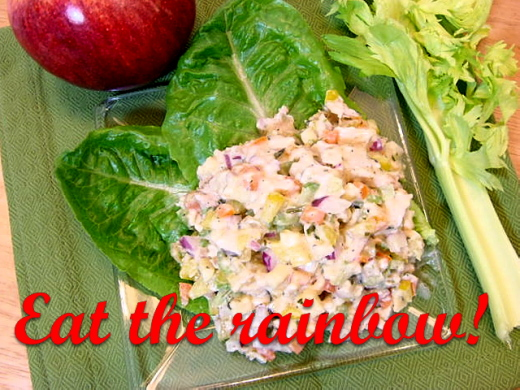 Rainbow Chicken Salad Recipe