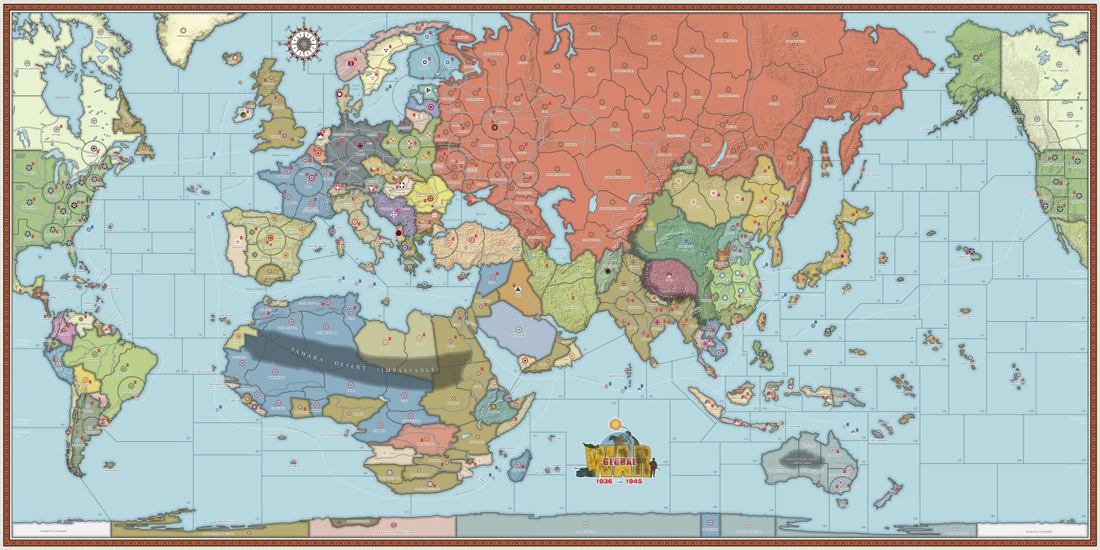 Historical board gamings global war 2nd edition axis allies 1940 the definitive war game is here gumiabroncs Image collections