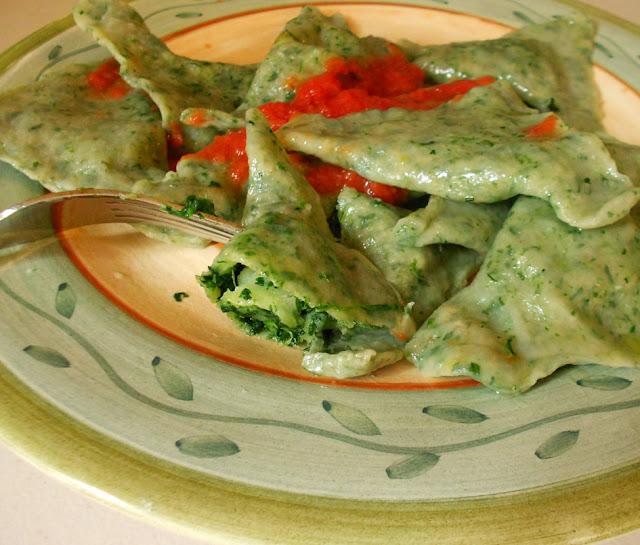 Spinach Ravioli- Coltunasi cu Spanac