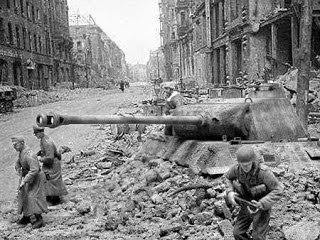Bekas tank soviet