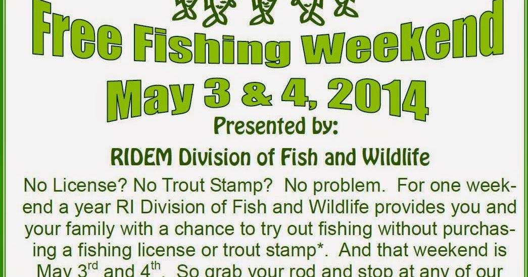 Progressive charlestown free fishing may 3 4 for Ri fishing regulations