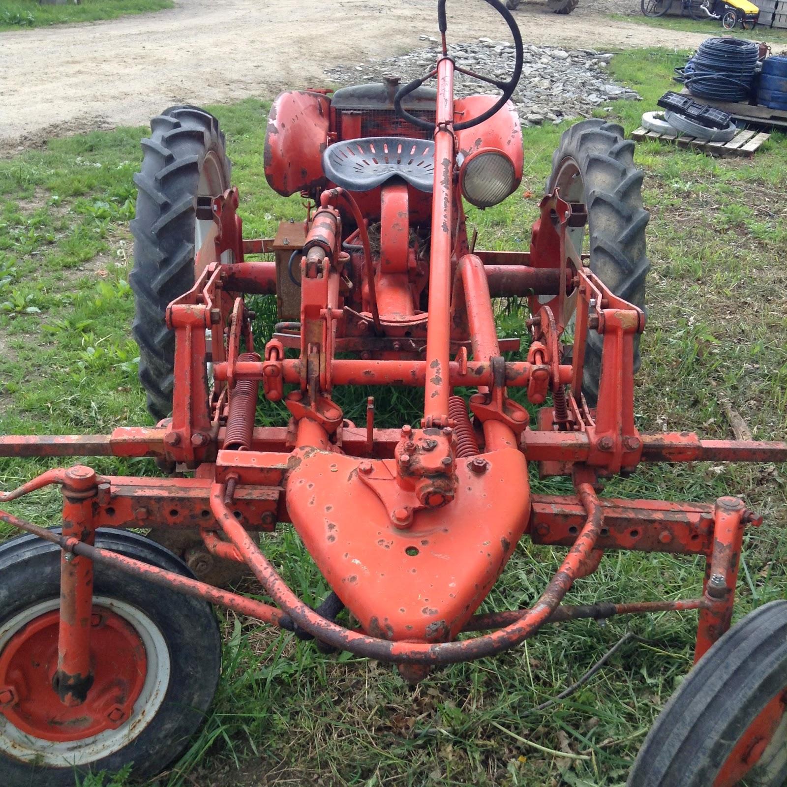 old orange tractor